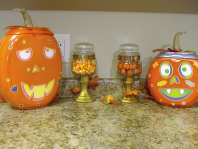 Cheap & Easy Halloween Fall 2016 Pumpkin Treat Holder DIY Tide Pod Container Upcycle
