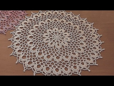 Crochet doily tutorial How to crochet doily 6 -11 round Part 2