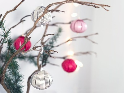 DIY: Christmas baubles by Søstrene Grene