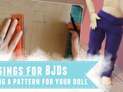 Drafting a leggings pattern to fit your doll
