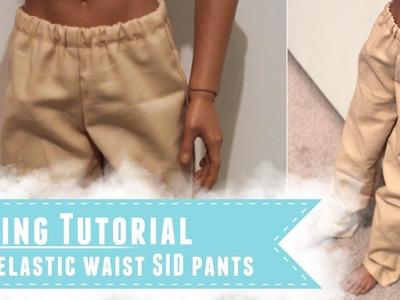 Easy elastic waist pants for SID and similar BJDs