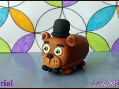 Freddy  Plush Fnaf Polymer Clay Tsum Tsum. Tutorial Freddy peluche con porcelana fría