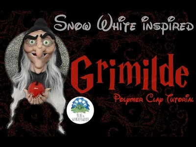 Grimilde Old Witch - Snow White Disney inspired - Polymer Clay Tutorial