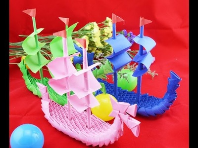 How to made 3d origami boat