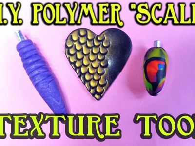 How To Make A Dragon Scales Texture Tool For Polymer Clay