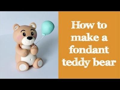How to make a fondant teddy bear tutorial. Jak zrobić misia z masy cukrowej