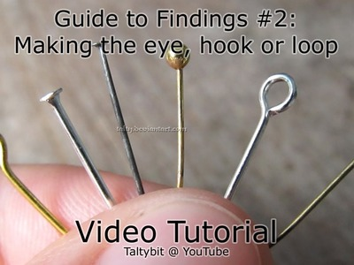 How to make an eye on a headpin (Talty's Guide to Findings #2)