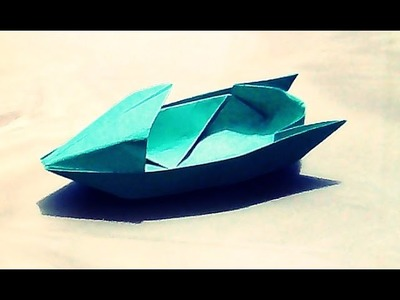 How To Make An Origami Motorboat  Boat-Paper Boat- 2D Origami