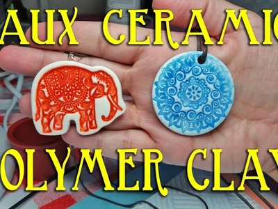 How To Make Easy Faux Ceramic Polymer Clay Pendants