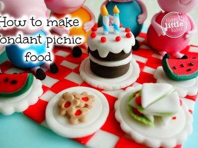 How to make fondant picnic food