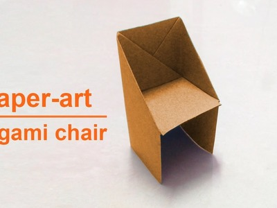 How to make paper folding chair