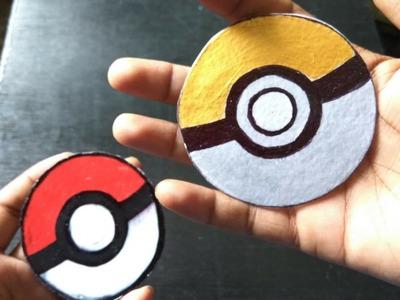 How to Make Pokemon Ball Button Badge for Bag