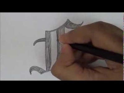 "How To Write Letter ""F"" In Old English Font Style. Unique Designer  Font Letters"