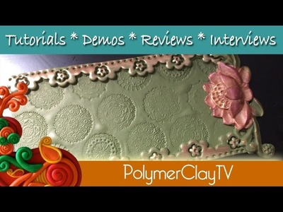 Make a pretty lotus tray to organize your stuff how to use polymer clay