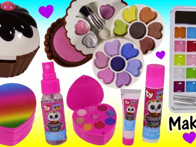 Makeup Beauty Bonanza! Lip Gloss & Lip Balm! Cupcake Eyeshadow Makeup SET! Beanie Boos! FUN