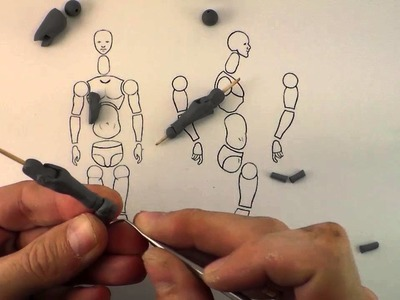 Making a basic polymer clay action figure - Part 2