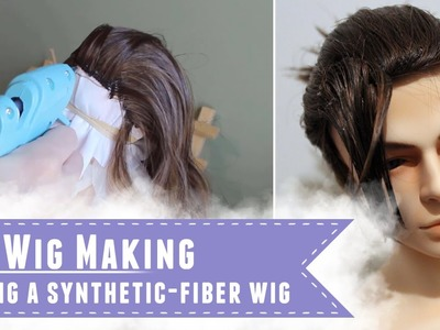 Making a BJD wig with synthetic fibers