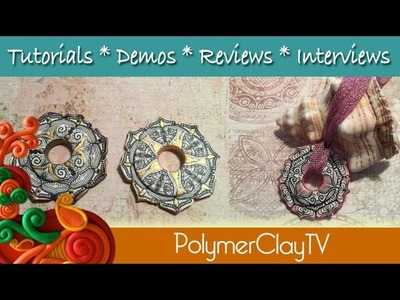 Making Mandala Pendants with Polymer Clay