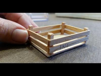 Manualidades para casa de muñecas,caja de frutas miniatura.crafts for dollhouse miniature fruit box