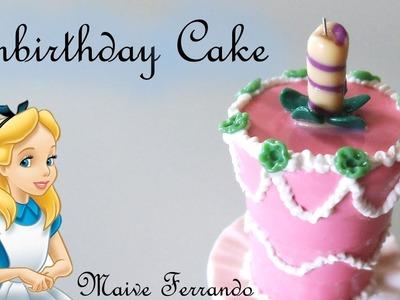 Miniature Alice in Wonderland Unbirthday Cake || Polymer Clay Tutorial
