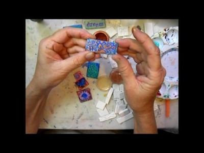 Painting polymer clay mosaic tiles