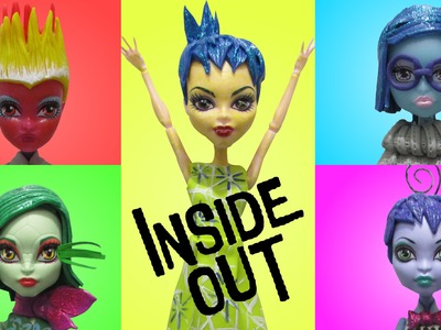 "Play Doh Monster High ""INSIDE OUT"" Joy, Disgust, Anger,Sadness,Fear  Inspired Costumes"