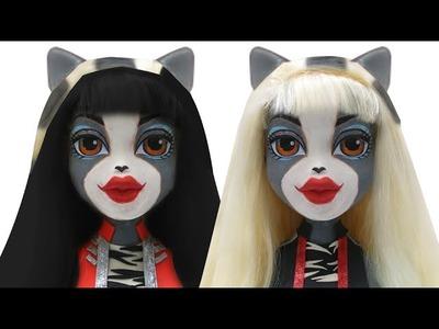 "Play Doh Monster High ""Werecat Sisters Meowlody Purrsephone""   Bratz Styling Head Cloe"