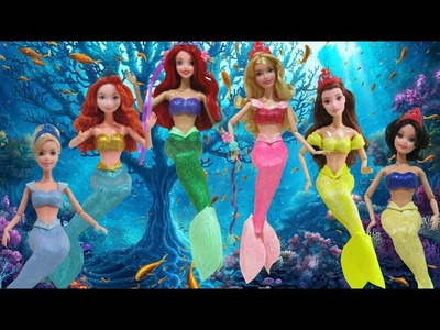 Play Doh  Princess Belle, Merida, Aurora, Cinderella, Snow White, Ariel - Mermaid Inspired Costumes