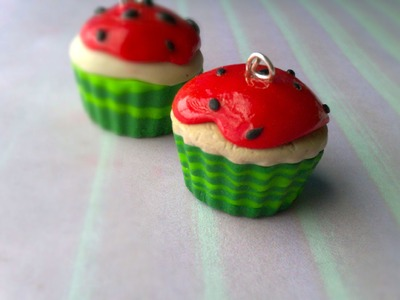 Polymer Clay Watermelon Cupcake Tutorial