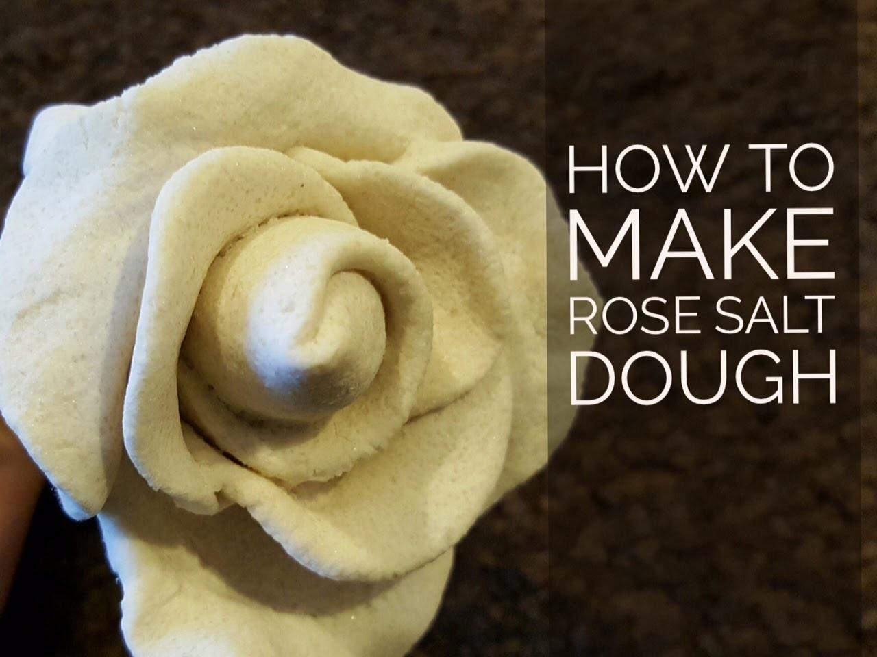 Rose Salt dough: No bake & No mold