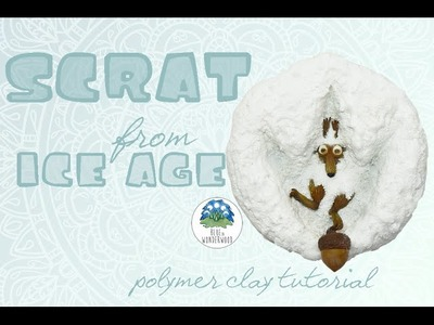 Scrat - The Squirrel inspired by The Ice Age - Polymer Clay Tutorial
