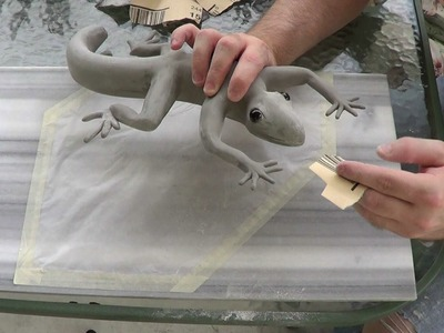 Sculpting a Lizard, part 3. Sanding + NEW CHANNEL!