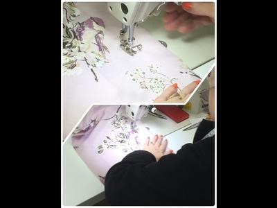 SEAMSTRESS machinist rolling over & sewing the hem Handmade Custom Dress Shirts  ✔
