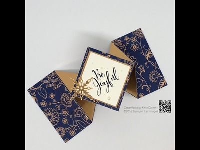 Technique Tuesday's - Stampin' Up! Petals & Paisleys Designer Series Paper Diamond Card
