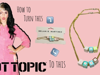 Turn Your Melanie Martinez Cry Baby Bracelet From Hot Topic Into A Necklace | Jewelry Life Hacks