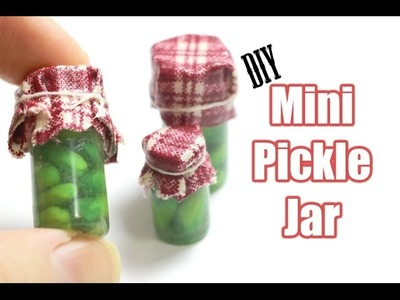 Tutorial: Miniature Pickle Jar - Fimo Polymer Clay, Resin