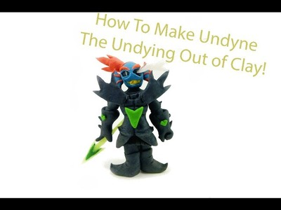 Undertale - Collaboration With Cristhian Crafts - How to Make Undyne the Undying Out of Clay!