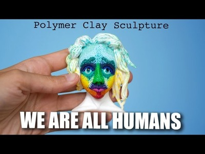 We Are All Humans. Art Against Racism. Speed Sculpting