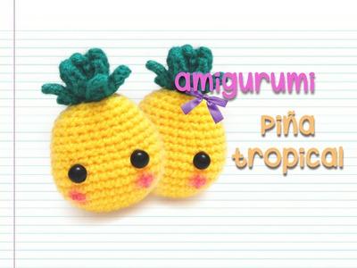 Amigurumi : piña tropical (intermedio)