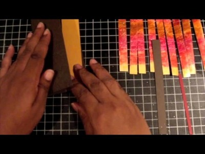 """Bargello Card Technique with """"Finger"""" Painting Fun!"""