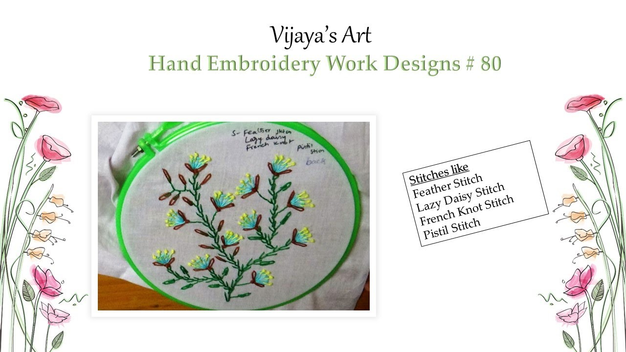Beautiful Hand Embroidery Designs 80 Feather Stitch