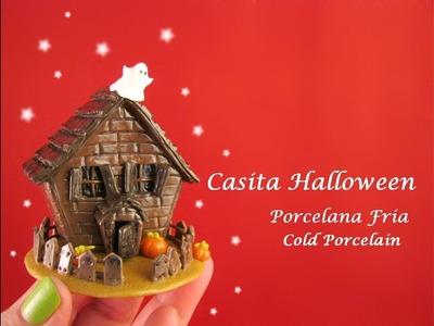 Casita Halloween en Porcelana Fria. Cold Porcelain