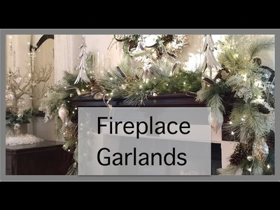 Christmas Decorating 2016 | Garland Fireplace Mantle