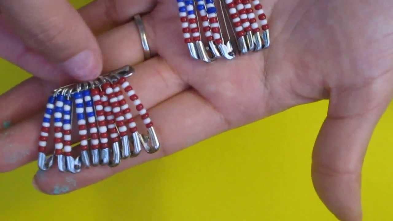 Como decorar alfileres (Bandera de Estados Unidos)