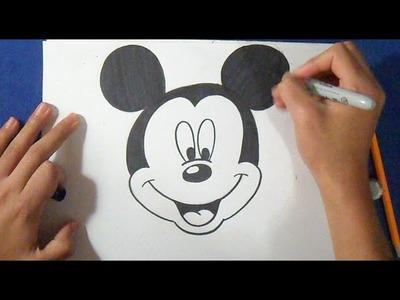 Cómo dibujar a al Raton Mickey