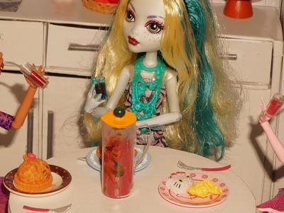 Como fazer jarra de suco para boneca Monster High, Barbie, etc
