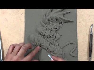 Como hacer una figura del anime de goku, en plastilina. How to make a figure goku anime, plasticine,