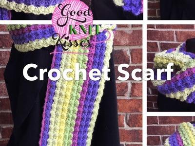 Crochet Scarf with Caron Cake (Marshmallow Crochet)