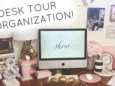 Desk Tour & Organization! ♡ 2016 ♡ HomeGoods, TJ Maxx, Marshalls, Kate Spade, Target, & Daiso