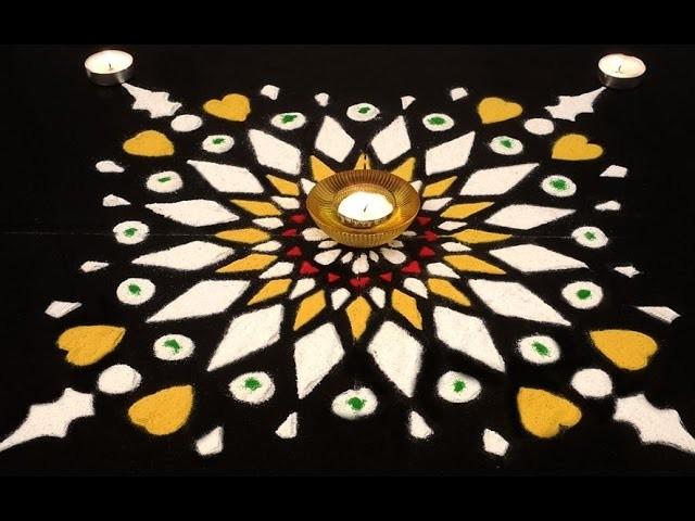 Diwali Special : How to Make Your Own Paper Stencil Rangoli | Easy Rangoli Design